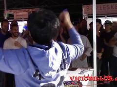 Soraya wells y amador xtreme follando en el stand del feda