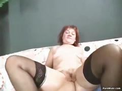 Sexy granny in old and young action