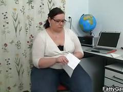 Big belly chubby teacher fucks student