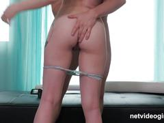 Petite amateur spinner trying to fuck her way into modeling