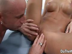 Husband watches young wife fuck another guy