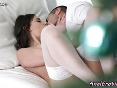 Stockings babe anally satisfied by big cock