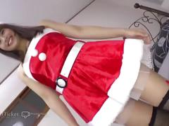 41ticket - japanese beauty nene kinoshita fucked in santa costume (subtitled)