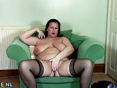 big tits, british, milf, busty, masturbation, stockings, fingering, solo, european, euro, bbw, mature, natural tits, amateur