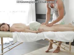 Sheilas big boobs massaged with the hard piston