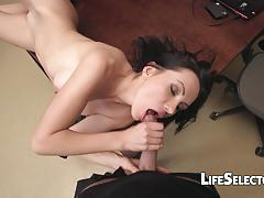 Sasha rose playing with toys