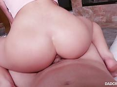 Lily adams bouncing on a big boner