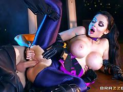 aletta ocean, danny d, brunette, blowjob, doggystyle, cumshot, hot, sexy, monster cock, spunk, blow, comedy