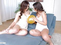 Balloon babes anina silk and cherry bright have some fun