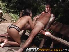 Busty amy fisher fucked outdoor for jizz