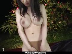 asian, n, swallow, oriental, masturbation, outdoor, vibrator
