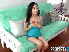 Propertysex - cute petite teen tenant fucks her landlord