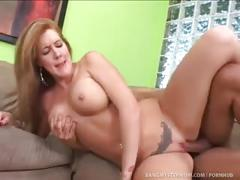 Busty milf babe sucks and fucks her stepson!
