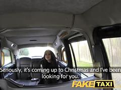 Faketaxi lady in stockings gets creampied