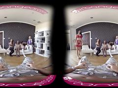 Vr bangers - [360°vr] five! pornstars worship your dick one after another