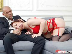 Beautiful dick riding lexie candy