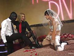 milf, threesome, femdom, bdsm, mistress, slave, cumshot, humiliation, crossdresser, masked, divine bitches, kink, will havoc, tony orlando, maitresse madeline marlowe