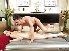 milf, massage, big boobs, brunette, rubbing, missionary, from behind, bath tub, boobs groping, nuru massage, nuru network, chanel preston, seth gamble
