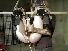 Bdsm session with authoritative master