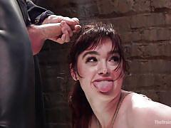 threesome, bdsm, babe, hanging, blowjob, vibrator, brunette, fingering pussy, rope bondage, the training of o, kink, jodi taylor, owen gray