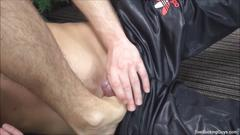 Foot loving and oral sex with two twinks