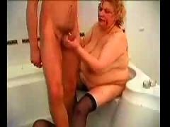 Mature fat woman...bmw