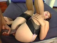 Cute asian slut gets creampied by bbc #3.eln