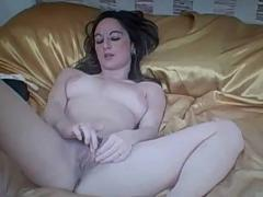 Honey plays with herself