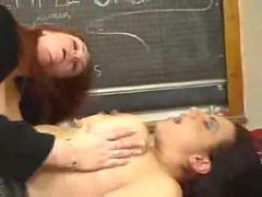 Chubby teacher gives licking lesson...f70