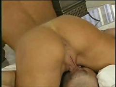 Fat cock inserted in a pornstar ass