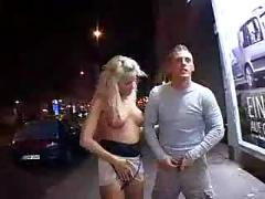 Hot blonde fucked in the alley - m27