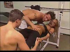 Cassandra wild - gym threesome