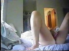 Hidden cam. nice closeup. my mom masturbating