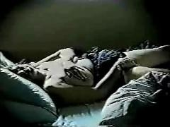 See what my mom do when she go to bed. hidden cam
