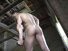 A man nude