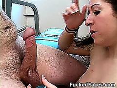 Getting her throat fucked hard