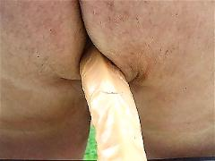 Dildo action outdoors
