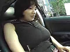 asian, car, dildo, japanese, shy, woman, shows, tit