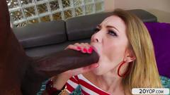 Skinny sexy ass angel smalls gets her pussy and anal fucked by big black cock