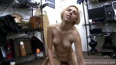 Sexy blonde babe gets her amazing pussy drilled