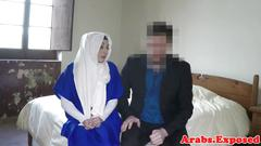 Arab whore throated and fucked for cash