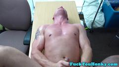 Straight interacial amateur cumdropping pov