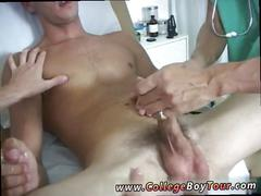 Dirty doctor gives a blowjob to his twink patient