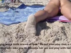 Voyeurchamp.com exhibitionist wife heather vs beach voyeur!