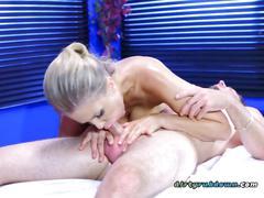 big boobs, blowjob, massage, blonde, riding