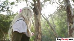 Sex parody blonde babe bridge blowjob fuck doggy style
