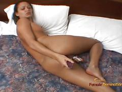 Shy little girl malaysia pleasures herself with two sex toys