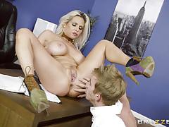 rachel roxx, danny d, blowjob, riding, cumshot, blonde, office, reverse cowgirl, licking, naked, cowgirl, sucking, licking pussy