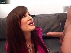 Horny lisa ann got her snatch stuffed with big cock