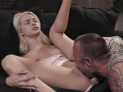 Elsa jean riding a hard dick cowgirl style